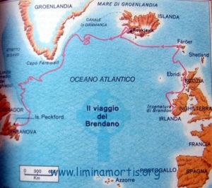 San Brandano - Mappa dei viaggi