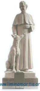 Statua di Don Bosco ed il Grigio