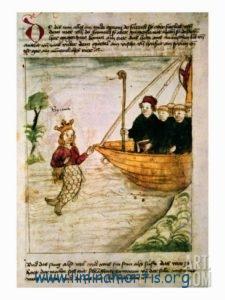 San Brandano incontra una sirena (manoscritto tedesco)